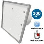 Pro-Design badkamerventilator - TIMER + VOCHTSENSOR (KW100H) - Ø 100mm - Tegelfront