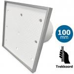 Pro-Design badkamer/toilet ventilator - TREKKOORD (KW100W) - Ø 100mm - Tegelfront