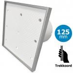Pro-Design badkamer/toilet ventilator - TREKKOORD (KW125W) - Ø 125mm - Tegelfront