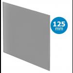 Pro-Design badkamer/toilet ventilator - STANDAARD (KW125) - Ø125mm - vlak GLAS - mat grijs