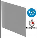 Pro-Design badkamer/toilet ventilator - MET TIMER (KW125T) - Ø125mm - vlak GLAS - mat grijs