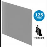 Pro-Design badkamer/toilet ventilator - TREKKOORD (KW125W) - Ø125mm - vlak GLAS - mat grijs