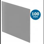 Pro-Design badkamer/toilet ventilator - STANDAARD (KW100) - Ø100mm - vlak GLAS - mat grijs