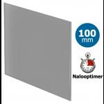 Pro-Design badkamer/toilet ventilator - MET TIMER (KW100T) - Ø100mm - vlak GLAS - mat grijs