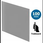 Pro-Design badkamer/toilet ventilator - TREKKOORD (KW100W) - Ø100mm - vlak GLAS - mat grijs