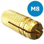 Messing muurplug M8 doos a 100 stuks