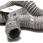 Niet-geïsoleerde PVC (grijs) flexibele slang Ø 127mm (binnenmaat) - VOLLE DOOS 10 METER