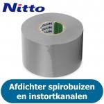 Nitto PVC Tape - Grijs - Afdichtingstape voor luchtkanalen - 50mm (10 meter)