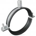 Ophangbeugel voor spirobuis Ø 125mm met rubber inlage
