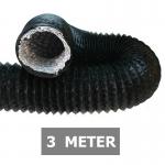 Flexibele ventilatieslang ongeïsoleerd - Zwart - Ø 100mm - Lengte 3 METER