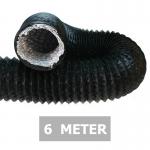 Flexibele ventilatieslang ongeïsoleerd - Zwart - Ø 100mm - Lengte 6 METER