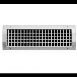 Dubbel instelbaar kanaalrooster (buis Ø315mm - Ø900mm) staal 425 x 125mm - toevoer