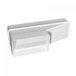 Kunststof rechthoekig verloop 204 x 60mm naar 120 x 60mm - Asymmetrisch