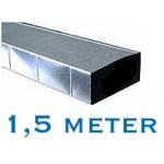 Rechthoekig (instort) kanaal 170 x 70mm - 1,5 meter - staal
