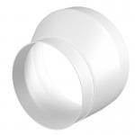 Kunststof verloopstuk van Ø 150mm naar Ø 125mm - asymmetrisch