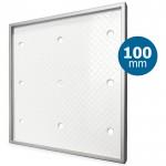 Design ventilatierooster vierkant (afvoer & toevoer) Ø100mm - Tegelfront