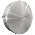 Toevoerventiel aansluitdiameter 100mm - Geborsteld RVS