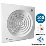 Badkamer/toilet ventilator Soler & Palau Silent (100CDZ) - Ø 100mm - MET TIMER + BEWEGINGSSENSOR