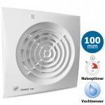 Badkamer/toilet ventilator Soler & Palau Silent (100CHZ) - Ø 100mm - MET TIMER + VOCHTSENSOR