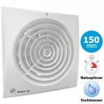 Badkamer/toilet ventilator Soler & Palau Silent (300CHZ) - Ø 150mm - MET TIMER + VOCHTSENSOR