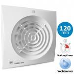 Badkamer/toilet ventilator Soler & Palau Silent (200CHZ) - Ø 120mm - MET TIMER + VOCHTSENSOR