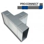 T-stuk 90 graden [220 x 55mm - 220 x 55mm] Staal - Verticaal [Pro-C]