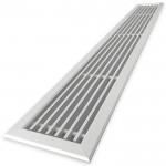 Tabletrooster inbouw voor gatmaat (BxH) 1000 x 100mm - rechte staven - aluminium