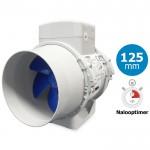 Blauberg TURBO-E-125T Buisventilator MET NALOOPTIMER - 280 m3/h - aansluiting 125mm