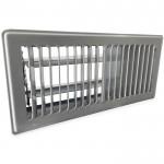 Vloerrooster LxB 254x102mm - staal - GRIJS RAL7001 **UITLOPEND MODEL**