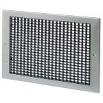 Wandrooster met vast raster (LxH) 400x200mm - aluminium - naturelkleurig