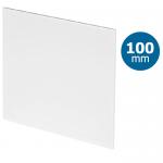 Design ventilatierooster vierkant (afvoer & toevoer) Ø100mm - vlak kunststof - wit