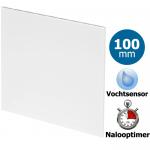 Pro-Design badkamer/toilet ventilator - TIMER + VOCHTSENSOR (KW100H) - Ø100mm - vlak kunststof - wit