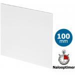 Pro-Design badkamer/toilet ventilator - MET TIMER (KW100T) - Ø100mm - vlak kunststof - wit