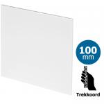 Pro-Design badkamer/toilet ventilator - TREKKOORD  (KW100W) - Ø100mm - vlak kunststof - wit