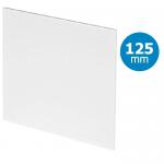 Design ventilatierooster vierkant (afvoer & toevoer) Ø125mm - vlak kunststof - wit