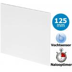 Pro-Design badkamer/toilet ventilator - TIMER + VOCHTSENSOR (KW125H) - Ø125mm - vlak kunststof - wit