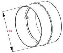 Kunststof verbinding sok voor ventilatiebuis 100mm