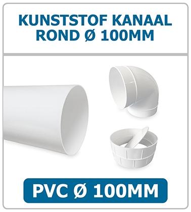 PVC kanalen 100mm rond voor ventilatie
