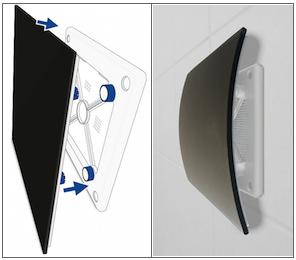Design ventilatie roosters vierkant RVS Glas en kunststof
