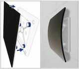 Vierkante luchtventielen design van RVS, kunststof en Glas