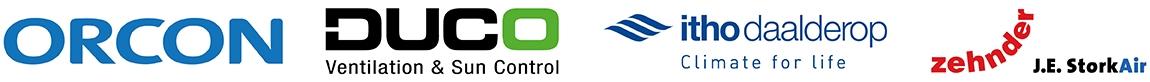 Woonhuisventilatoren van Orcon, Duco, Zehnder/Stork, Itho Daalderop en S&P