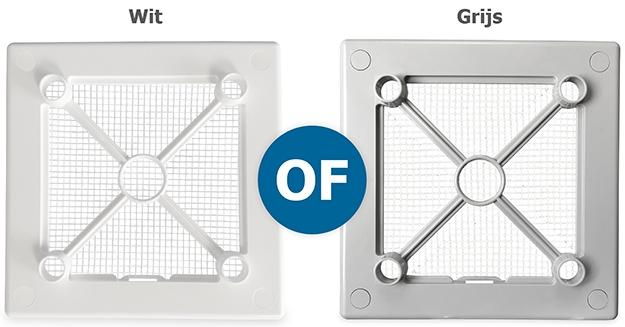 Wit of grijs frame achter design front