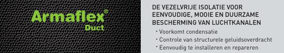 Armaflex zelfklevende isolatie voor spirobuis ventilatiekanaal
