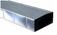 instortkanaal rechthoekig ventilatie kanaal