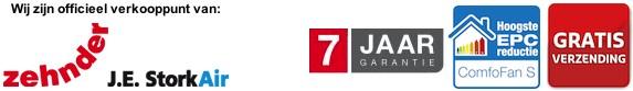 Officiële dealer van Stork ComfoFan woonhuisventilatoren