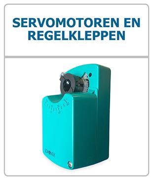 Servomotoren voor ventilatie regelkleppen electronisch open/dicht te zetten